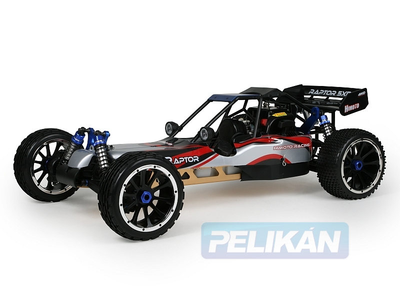 HIMOTO 1:5 BUGGY 4WD RAPTOR 5XB 2,4G LCD 26ccm