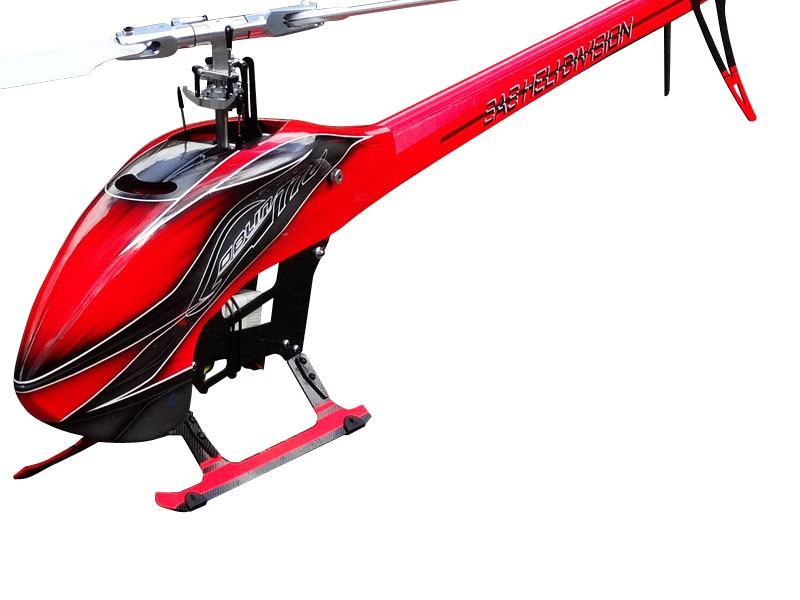 SAB Goblin 770 Flybarless Electric Helicopter červeno šedá Kit [SG771]