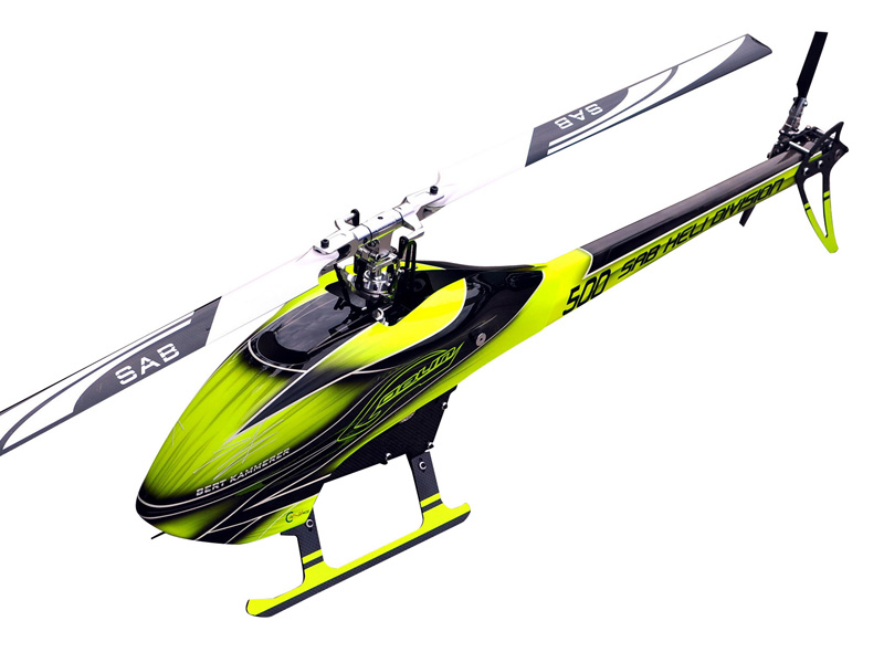 Sab Goblin 500 Flybarless Electric Helicopter žluto černý Kit [SG501]