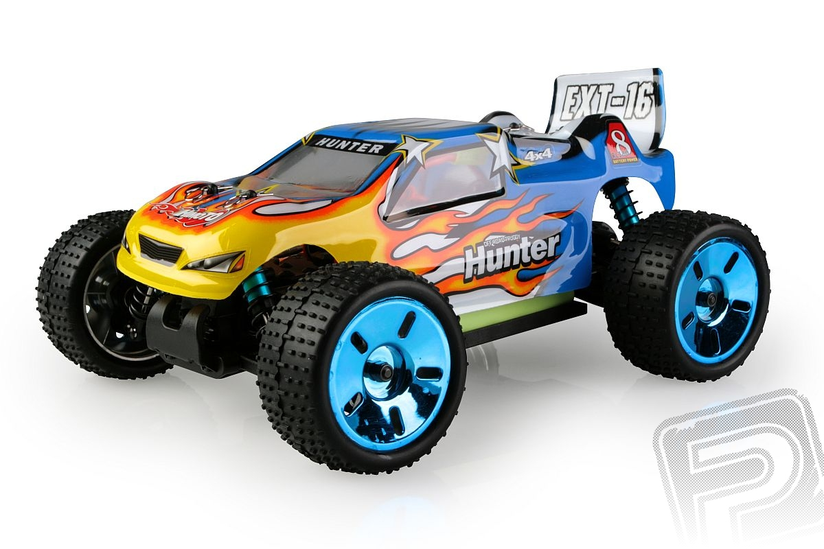 Himoto Truggy 1/16 RTR 2,4GHz Brushless - modrá