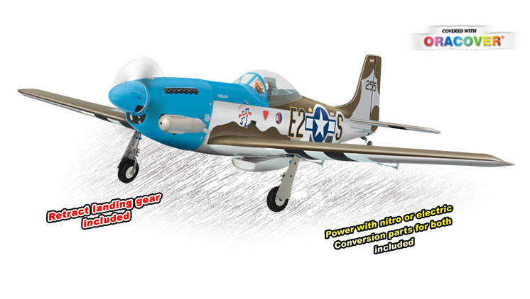 P51 MUSTANG .61-.91 SCALE 1:7 ARF