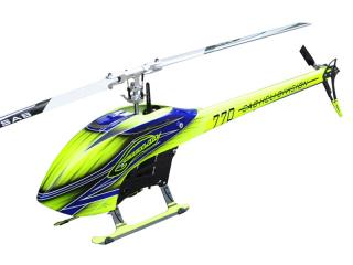 SAB Goblin 770 Flybarless Electric Helicopter žluto modrý kit [SG770]